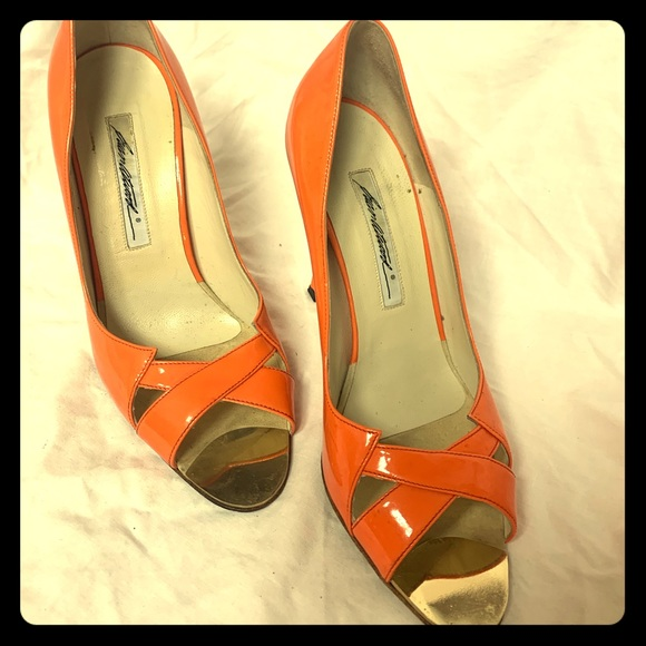 Brian Atwood Shoes - Beautiful orange pumps